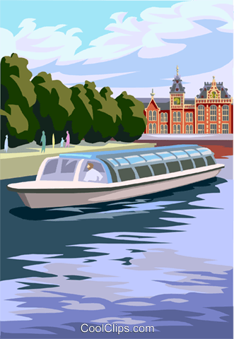 Amsterdam sightseeing Royalty Free Vector Clip Art illustration vc004528