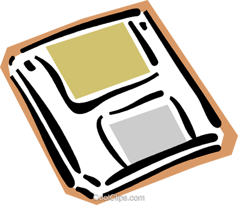 35mm diskette Royalty Free Vector Clip Art illustration vc004539