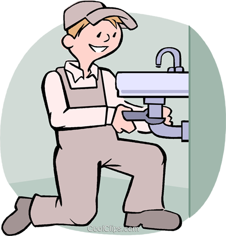 plumber Royalty Free Vector Clip Art illustration vc004574