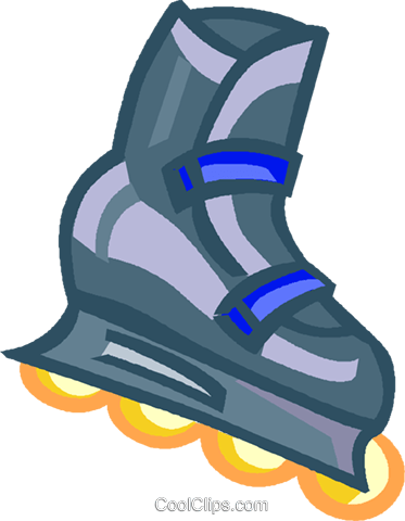roller blade Royalty Free Vector Clip Art illustration vc004627