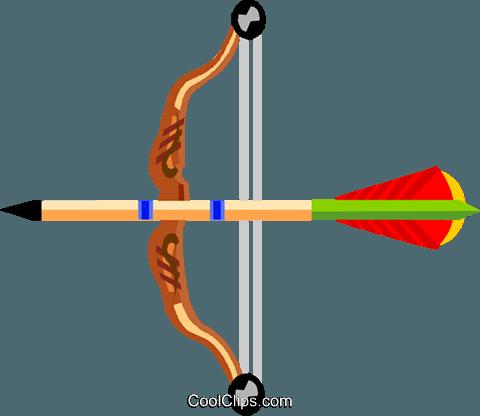 Bogenschießen Vektor Clipart Bild Vc004629 Coolclips Com