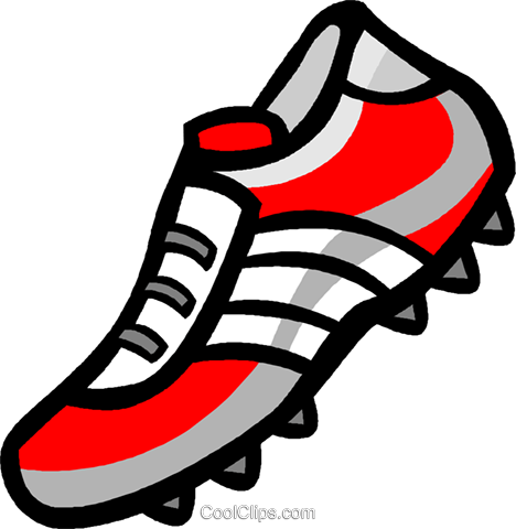 Soccer cleat Royalty Free Vector Clip Art illustration vc004632