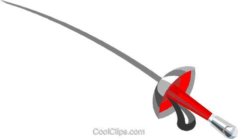 fencers foil Royalty Free Vector Clip Art illustration vc004633