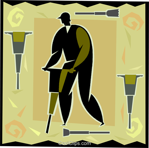 construction worker Royalty Free Vector Clip Art illustration vc004728