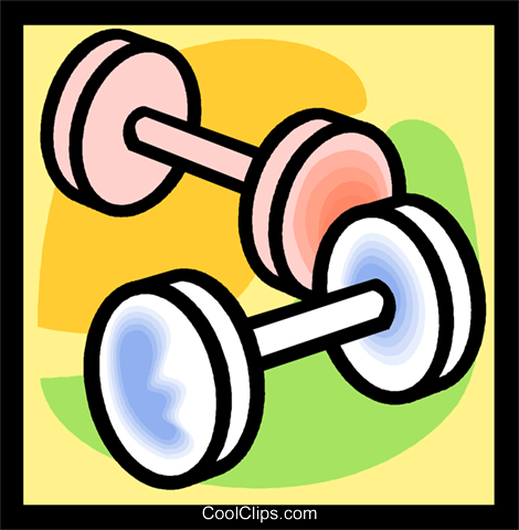 barbells, dumbbells Royalty Free Vector Clip Art illustration vc004767
