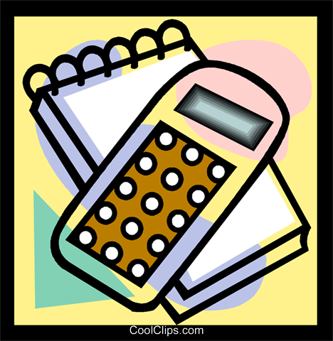 calculator, pad Royalty Free Vector Clip Art illustration vc004769