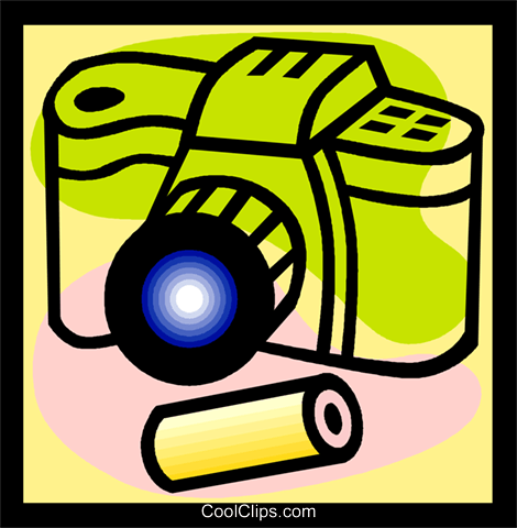 camera and film Royalty Free Vector Clip Art illustration vc004770