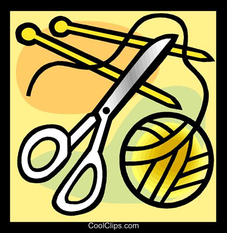 剪线粘贴画-刀 免版税矢量剪贴画插图