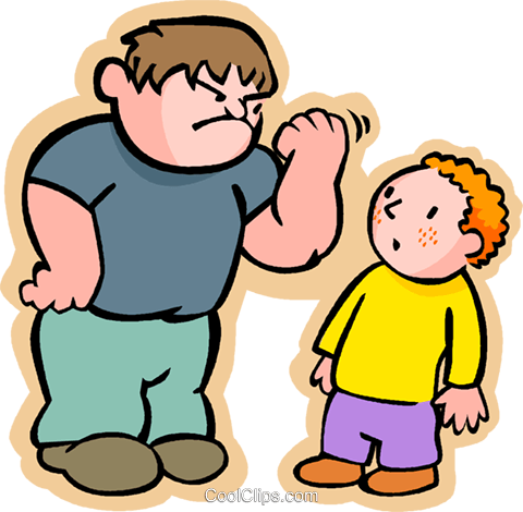 little boy with a bully royalty free vector clip art illustration rh search coolclips com bully free zone clip art