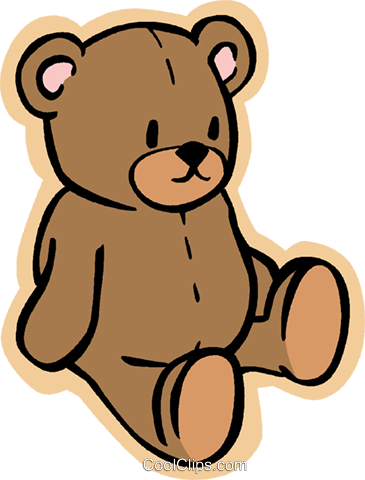 teddy bear Royalty Free Vector Clip Art illustration vc004794
