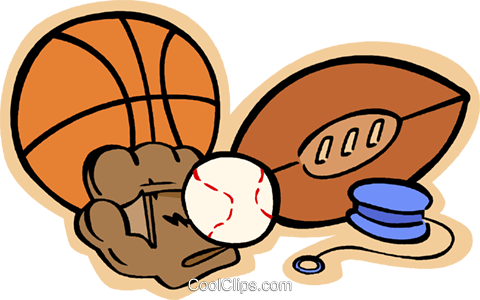 Sports equipment Royalty Free Vector Clip Art illustration vc004814