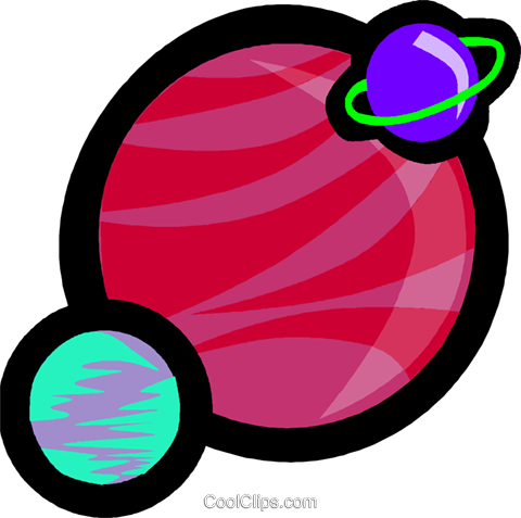 planets Royalty Free Vector Clip Art illustration vc004827