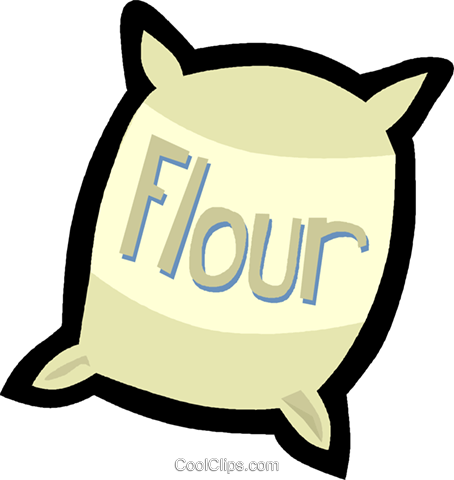 flour Royalty Free Vector Clip Art illustration vc004835