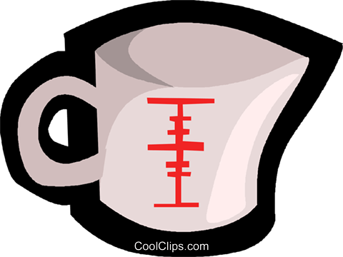 measuring cup Royalty Free Vector Clip Art illustration vc004846