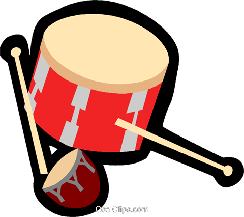 drum Royalty Free Vector Clip Art illustration vc004883