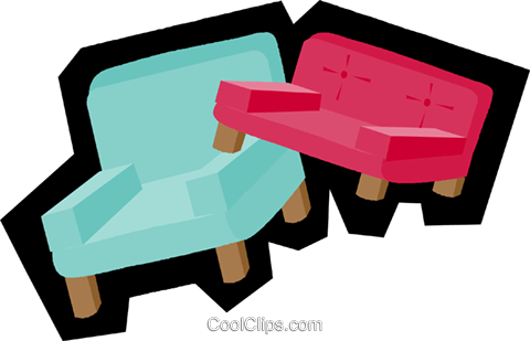 chairs Royalty Free Vector Clip Art illustration vc004915