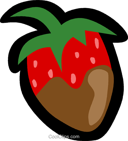 strawberry Royalty Free Vector Clip Art illustration vc004916