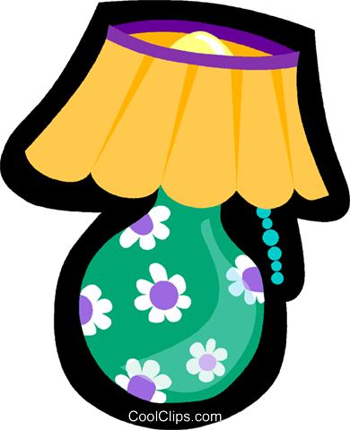 lamp Royalty Free Vector Clip Art illustration vc004919