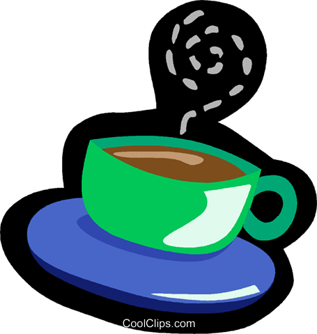cup of coffee Royalty Free Vector Clip Art illustration vc004924