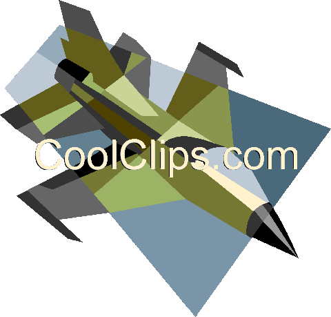 military jet Royalty Free Vector Clip Art illustration vc004964