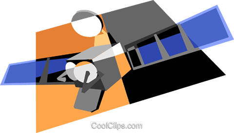 satellite Royalty Free Vector Clip Art illustration vc004969