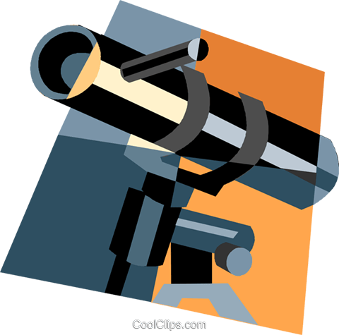 telescope Royalty Free Vector Clip Art illustration vc004973