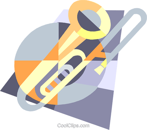 trombone Royalty Free Vector Clip Art illustration vc004980