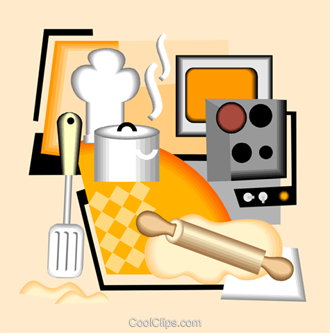 cooking equipment Royalty Free Vector Clip Art illustration vc004992
