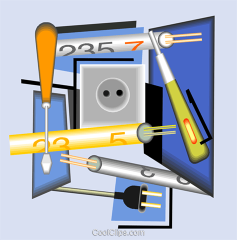 electrical equipment Royalty Free Vector Clip Art illustration vc005004