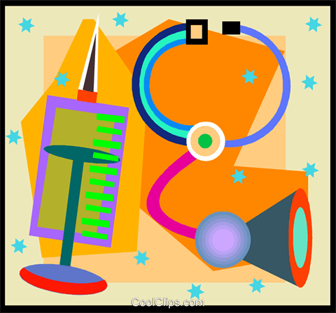 medical tools Royalty Free Vector Clip Art illustration vc005022
