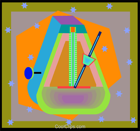 metronome Royalty Free Vector Clip Art illustration vc005028