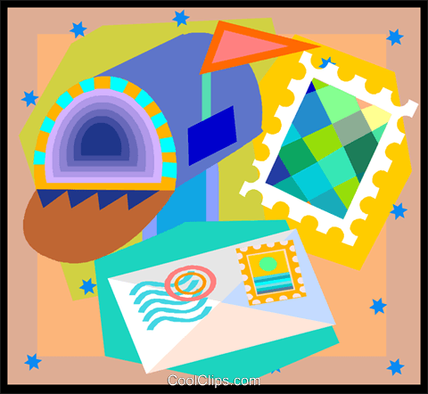 mail Royalty Free Vector Clip Art illustration vc005039
