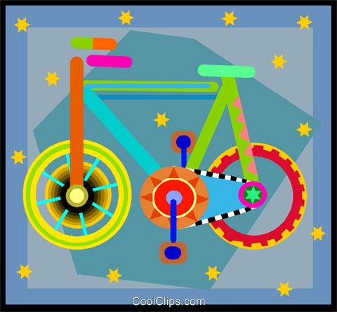bicycle Royalty Free Vector Clip Art illustration vc005041