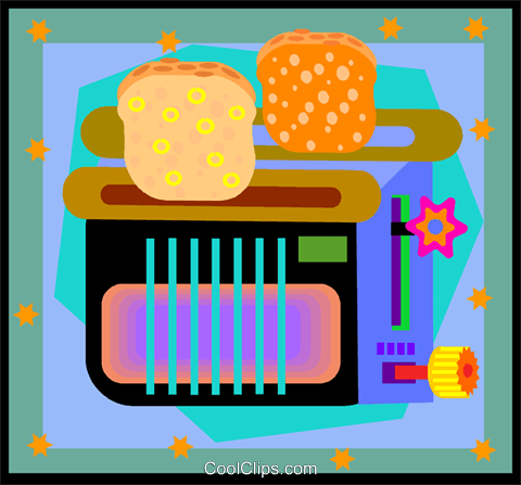 toaster Royalty Free Vector Clip Art illustration vc005048