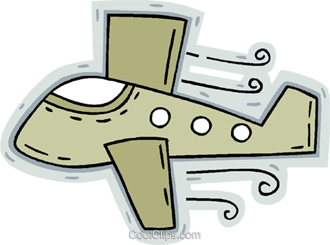 airplane Royalty Free Vector Clip Art illustration vc005106