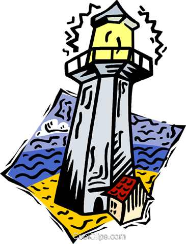 light house Royalty Free Vector Clip Art illustration vc005187