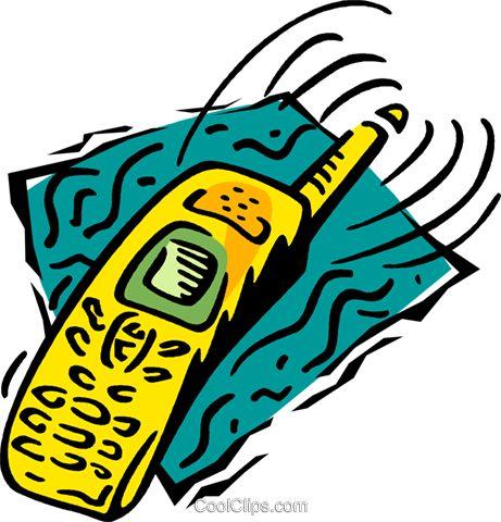 cellular phone Royalty Free Vector Clip Art illustration vc005189