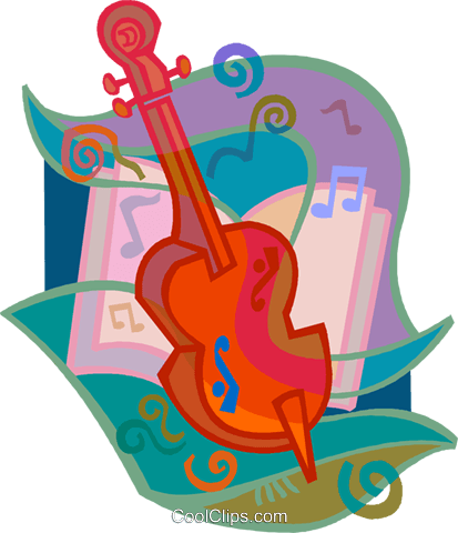 cello with musical background Royalty Free Vector Clip Art illustration vc005218