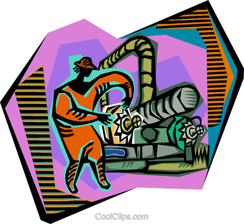 industrial work Royalty Free Vector Clip Art illustration vc005233