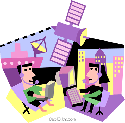 communication, satellite Royalty Free Vector Clip Art illustration vc005273