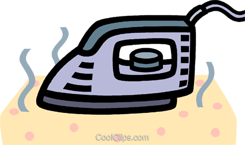 iron, electric hand iron Royalty Free Vector Clip Art illustration vc005293