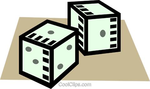 dice Royalty Free Vector Clip Art illustration vc005300