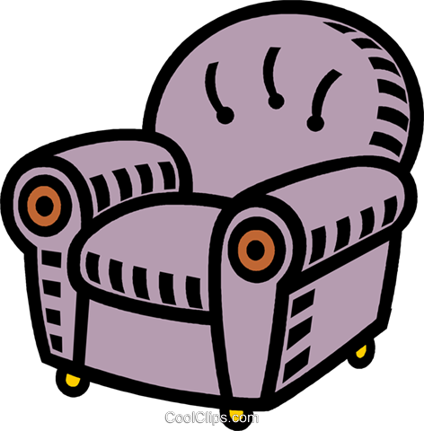 bequemen stuhl vektor clipart bild vc005302. Black Bedroom Furniture Sets. Home Design Ideas