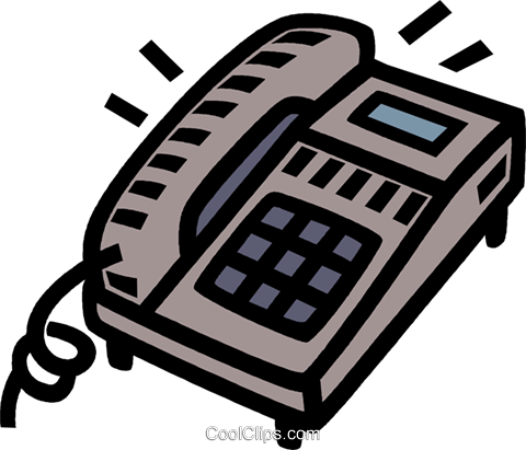 telephone Royalty Free Vector Clip Art illustration vc005317