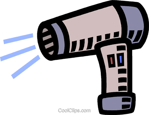 hair dryer Royalty Free Vector Clip Art illustration vc005319