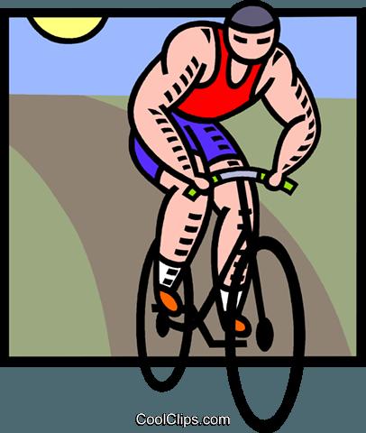 Luomo In Bicicletta Immagini Grafiche Vettoriali Clipart Vc005321