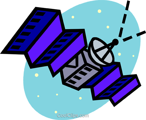 satellite Royalty Free Vector Clip Art illustration vc005323