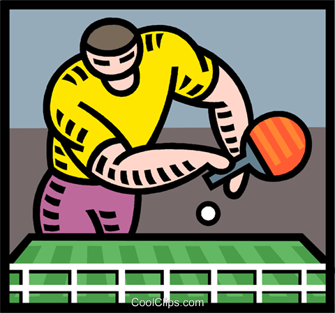 ping pong Royalty Free Vector Clip Art illustration vc005327