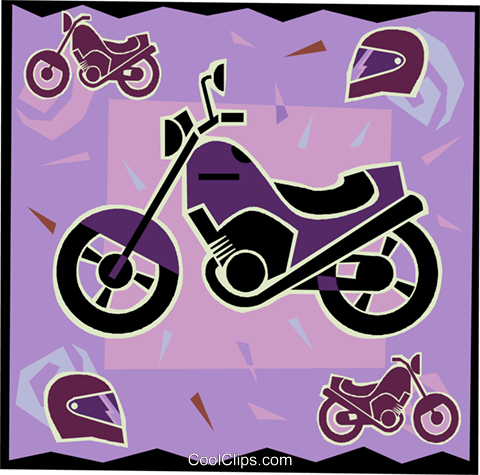motorcycle Royalty Free Vector Clip Art illustration vc005343