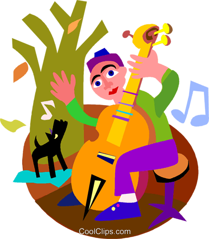cellist Royalty Free Vector Clip Art illustration vc005407